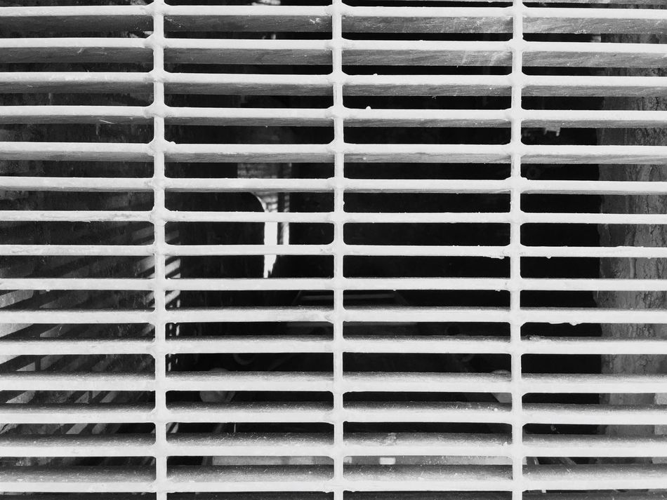 Full Frame Backgrounds Pattern Textured  No People Built Structure Close-up Architecture Day Outdoors Street Photography Black & White Steetphotography Black And White Architecture Metal IPhone Pattern, Texture, Shape And Form Subway Ventilation.