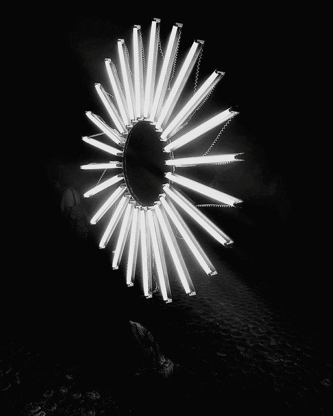 Sol Eléctrico Illuminated Carnival City Life Urban Scene Eye4photography  Walking Around Arts Culture And Entertainment EyeEm Best Shots Blackandwhite Perspective Ciudaddemexico Mexico_maravilloso Enjoying Life Black And White Friday