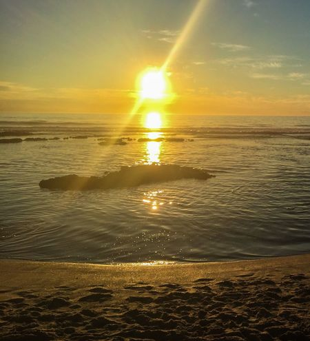Sunset Flare Travel Photography Orange Kalbarri Western Australia Australia Beach Seascape Sea Colors Of Nature Sunset Indian Ocean Beach Photography Flare Sun Sun Flare Bright Warm Vivid Dusk Coastline Blue Holes Night Colorful Sky Nature Water