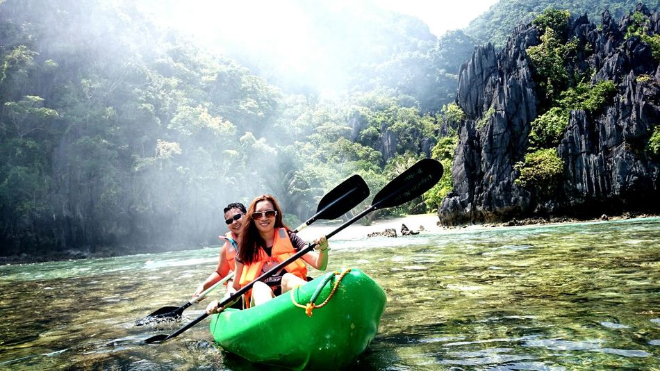 In LIFE, it's not WHERE YOU GO... It's WHO you TRAVEL WITH... First Eyeem Photo Feel The Journey Honeymooners El Nido, Palawan Kayaking Is Fun Wet And Wild Row, Row, Row Your Boat Its More Fun In The PHILIPPINES! Summertime Original Experiences Water_collection Enjoying Life Love Love Love.♥♥♥ Nature Lover Adventure EyeEm X Canon - Feel The Journey