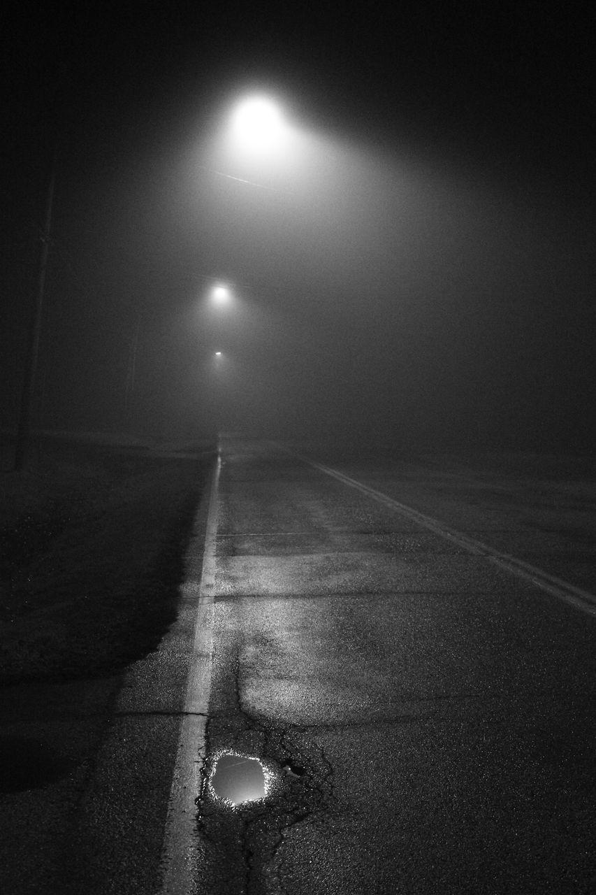 night, illuminated, the way forward, no people, street light, outdoors, road, nature, moon, sky, beauty in nature, astronomy