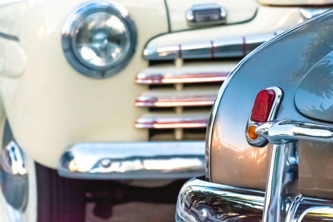 Car Cars Classic Car Close-up Collector´s Car Colour Image Design Detail Focus On Foreground Headlights And Taillights Horizontal Journey Land Vehicle Mode Of Transport No People Old Car Old Fashioned Retro Styled Selective Focus Shiny Transportation Travel Vehicle Hood Vintage Vintage Cars