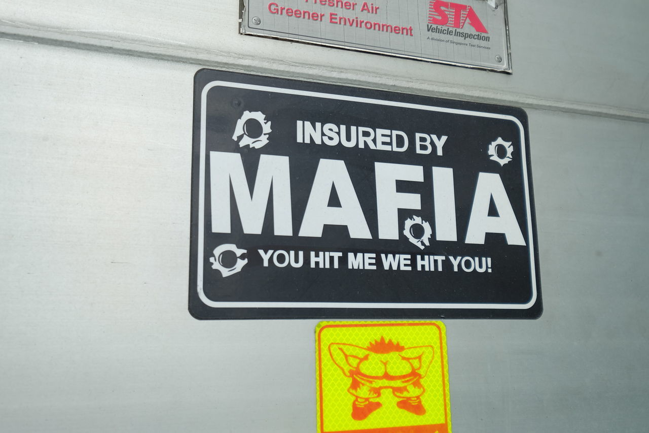 Funny Funny Sign Funny Signs Haha Insured Joking Joking Around Mafia