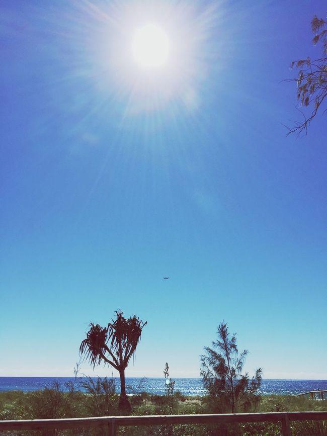 Sky Blue Beauty In Nature Ocean