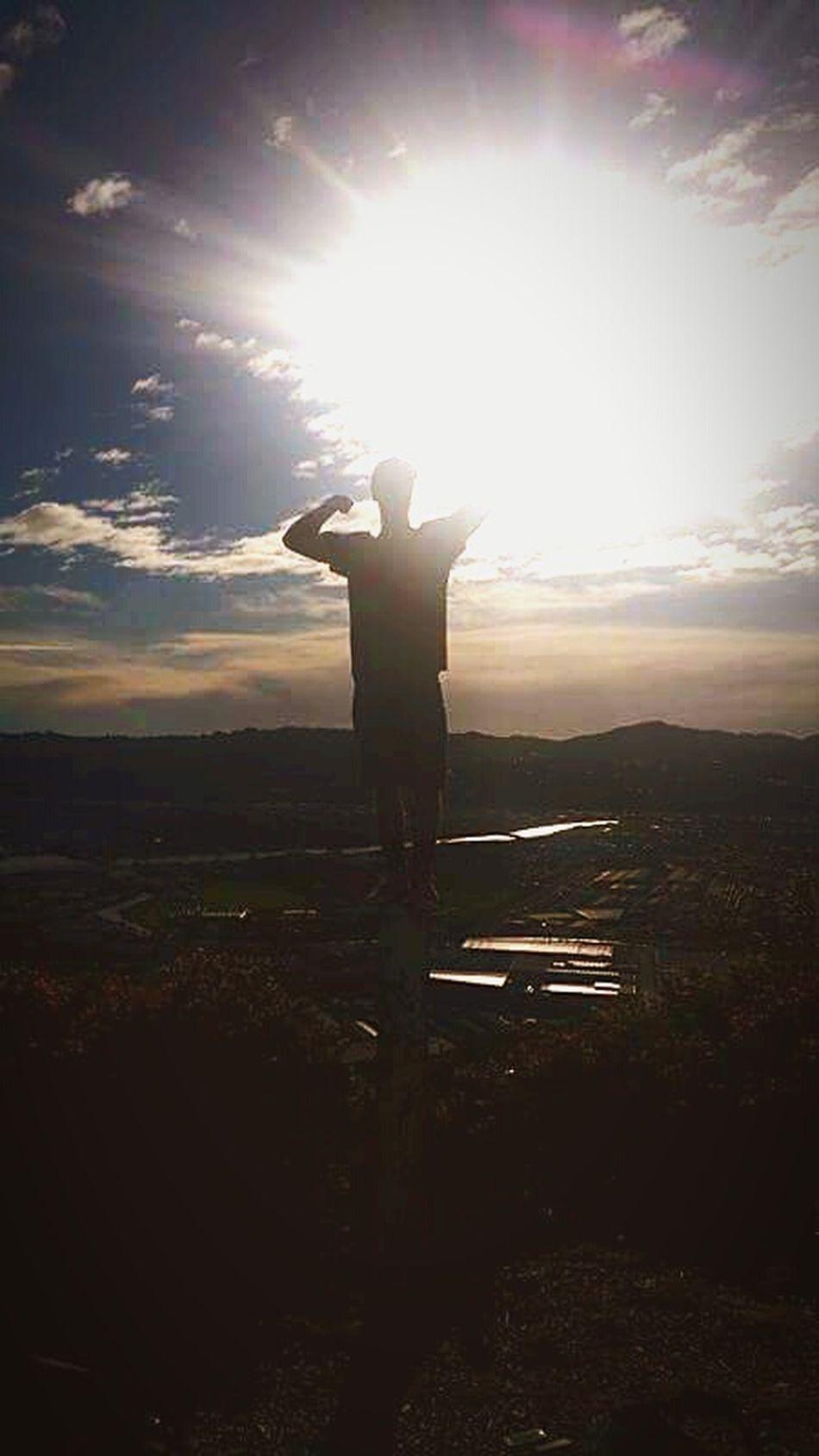 Sunbeam Sun Standing Full Length Tranquil Scene Cloud - Sky Tranquility Back Lit Lens Flare Vacations Horizon Over Land Beauty In Nature Non-urban Scene Memories Sunlight Silhouette Tourism Day Nature Scenics Sky NeverGonnaStop Believeinyourself Believe Shower