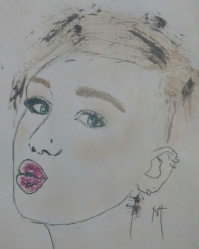 Makeup Drawing Miley Cyrus