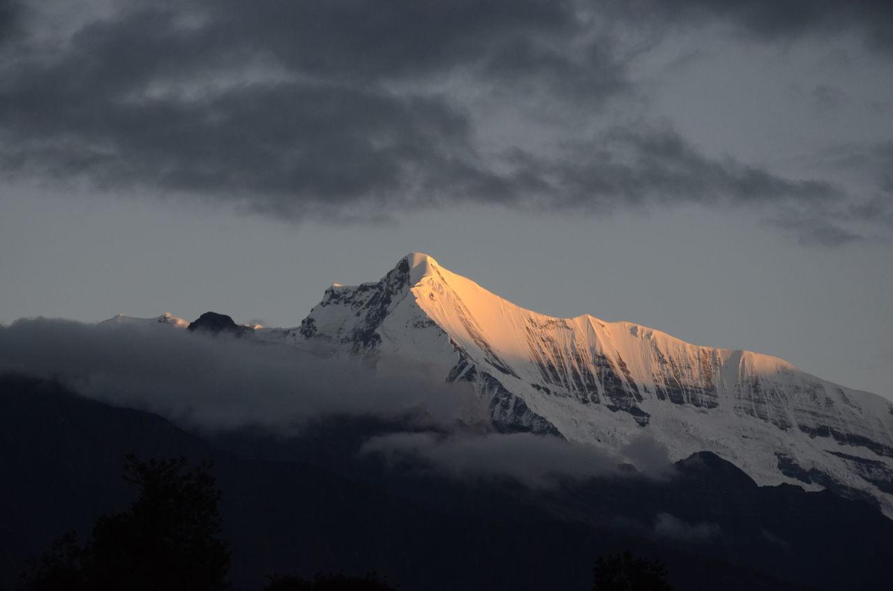 Mountain Beauty In Nature Weather Nature Sky Mountain Peak Morning Shine