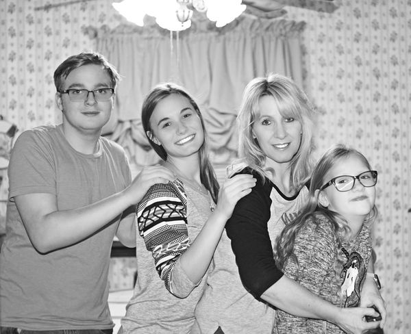 Family makes me love myself Family Looking At Camera Portrait Friendship Smiling Blond Hair Togetherness Love Yourself Young Adult Child
