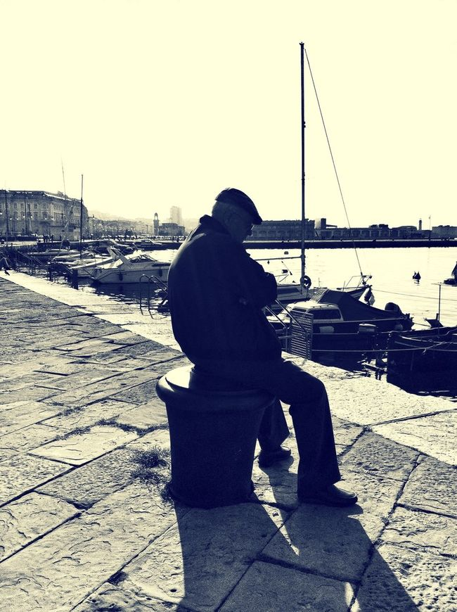 Thinking Enjoying The Sun Relaxing