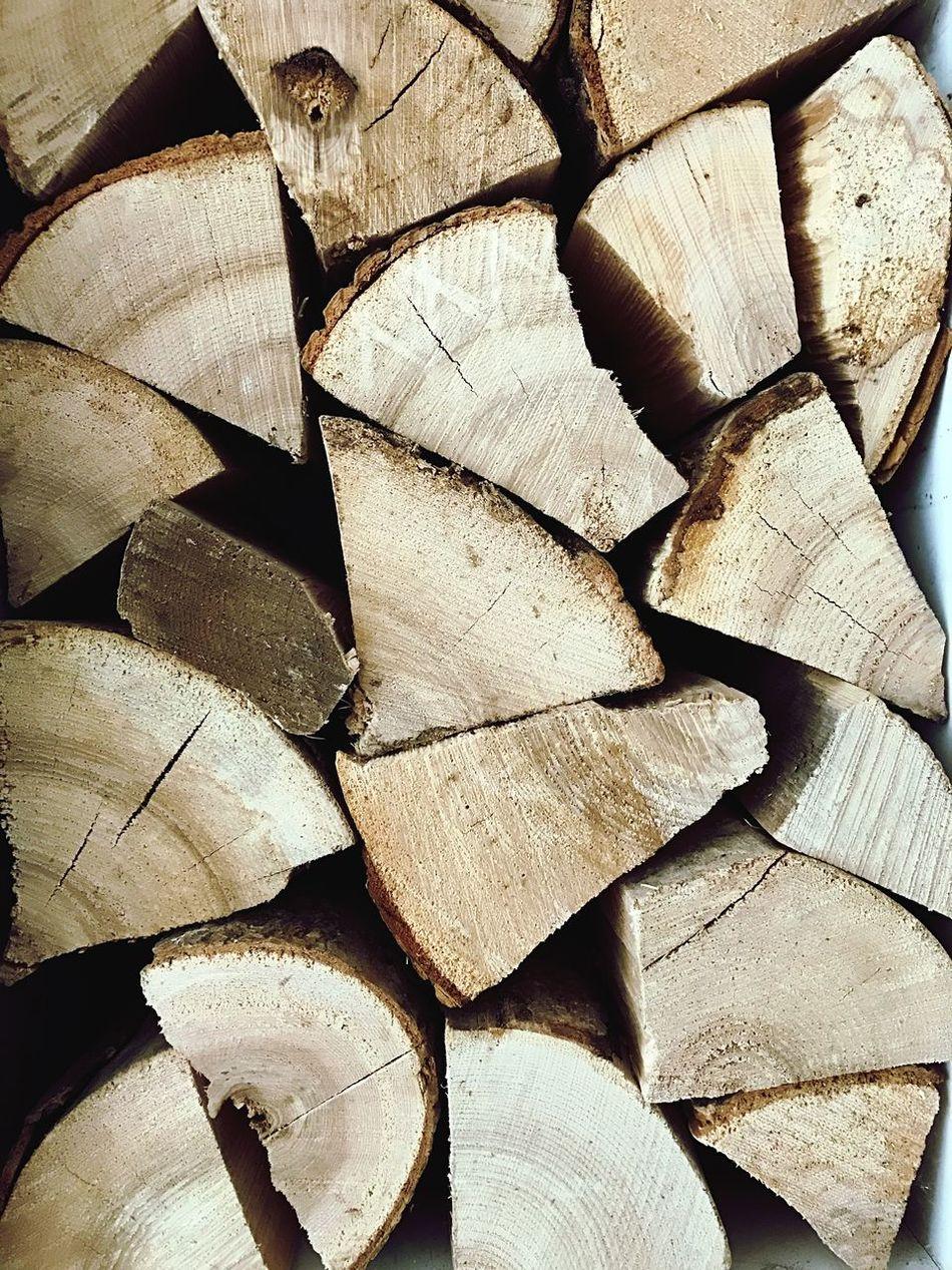 Beautifully Organized Log Winter Woodfire