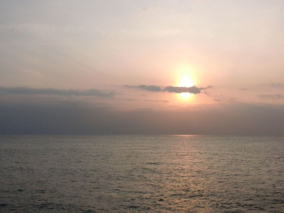 Sun Rise Taking Photos Relaxing Sea And Sky