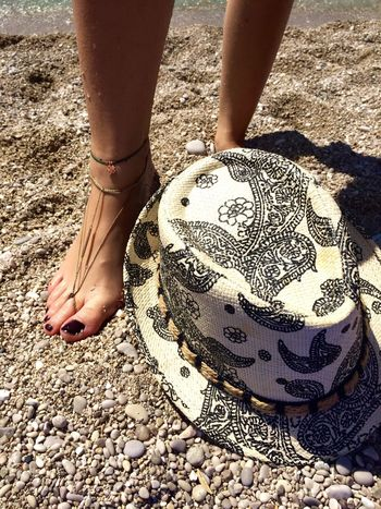 Real People Standing Outdoors Human Leg People Day Low Section One Person Close-up Summer Beach Sun Hat