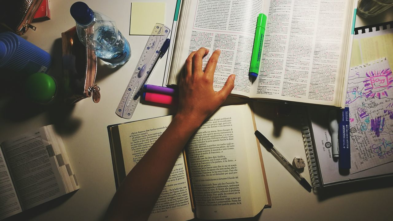 Indoors  Communication Personal Perspective Person Books To Read High Angle View Ordinary Day Light And Shadow