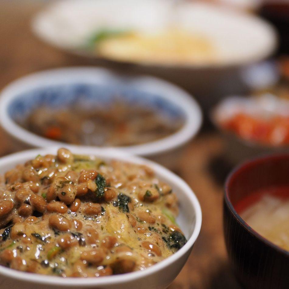 Enjoying A Meal In My Mouf Yummy Foodstagram Foodgasm Foodgram Foodie Taking Pictures Taking Photos Olympus Food 夕飯 納豆 日本食 Natto