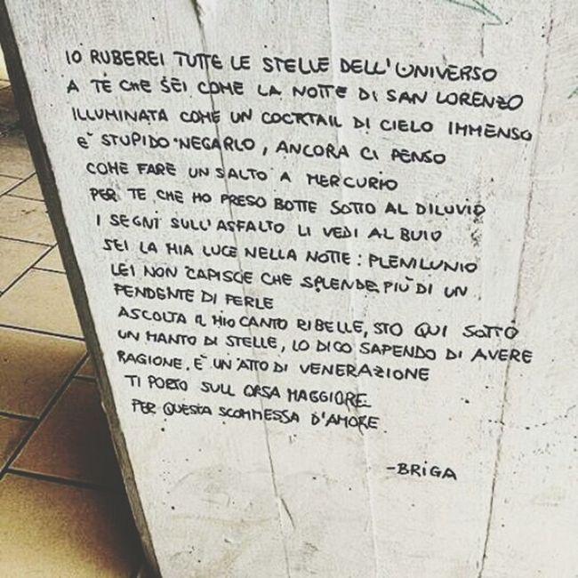 """""""Ti porto sull'orsa maggiore per questa scomessa d'amore."""" Music Is My Life Life = Music = Life Briga Mattia Song"""