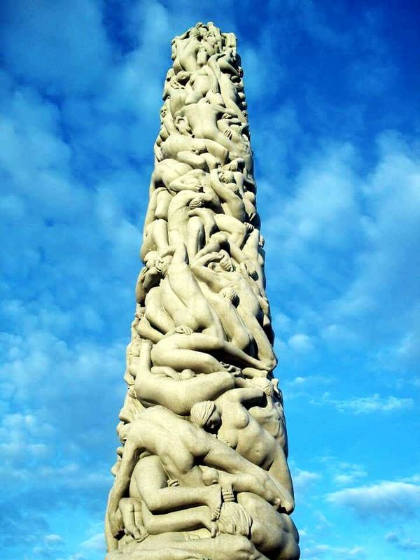 Vigeland's Cloud - Sky obelisk Low Angle View Sky No People Sculpture Outdoors Representing Day Nature Oslo, Norway Vigelandsparken Sculpture Park Monolite Sentrum First Eyeem Photo