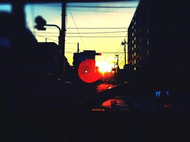 今日の夕陽。 Sunset Sun Sunset_collection Orenge Sky Tokyo Sunset Hello World
