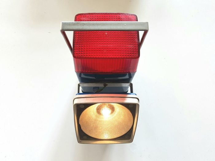 Indoors  No People Red Close-up Day Product Torch Vintage Everready Motor Lamp Vintage Torch Lamp Indoors