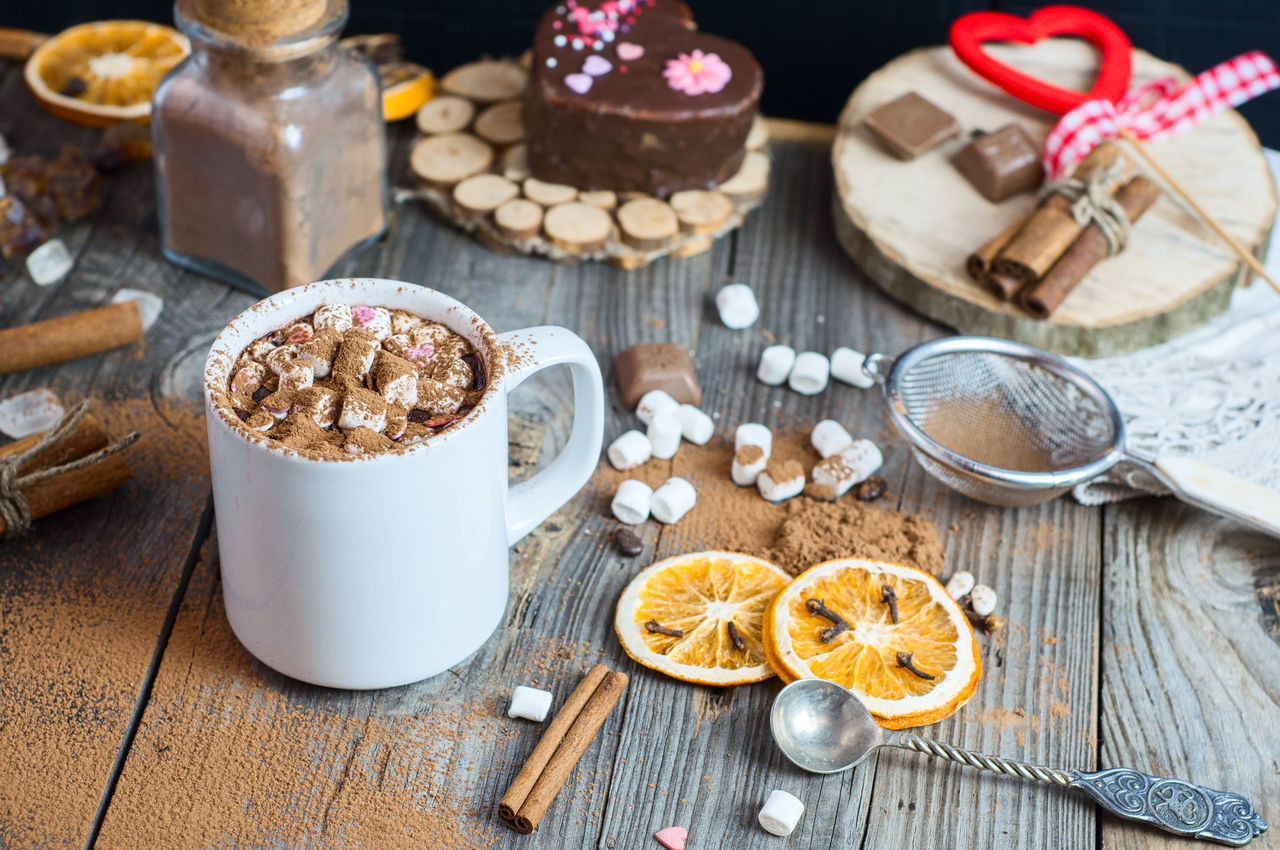 Beverage Cocoa Cup Drink Drinking Food And Drink Freshness Fruit Marshmallows Mug No People Sweet Sweet Food Tasty