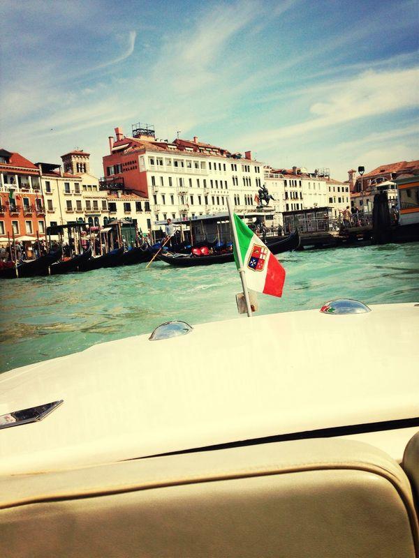Throwback Venice, Italy Boat Danieli