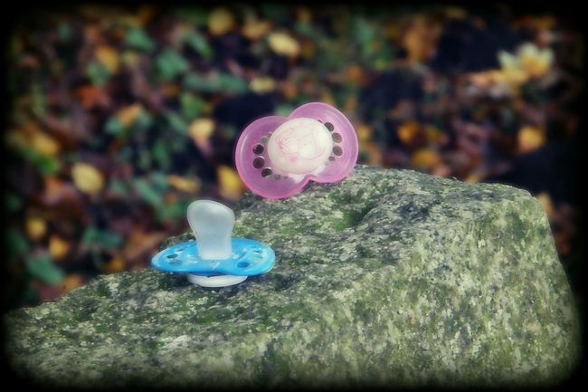 Pacifier Stone Outdoors No People