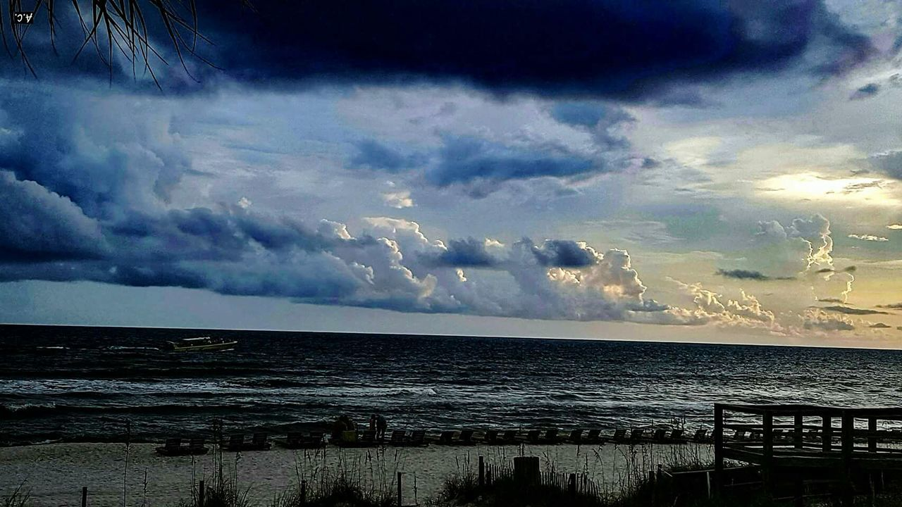 Sea Cloud - Sky Beach Dramatic Sky Horizon Over Water Outdoors Beauty In Nature Scenics Sky Storm Cloud Awe Nature Water No People Sunset Thunderstorm Storm Day