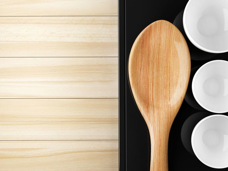 Close-up Directly Above Food Food And Drink Freshness Healthy Eating Indoors  Kitchen Utensil No People Spatula Studio Shot Table Wood - Material Wooden Spoon