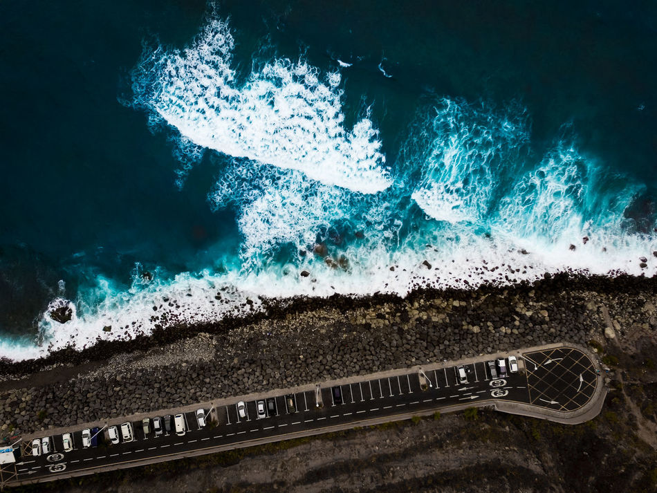 Sea from above. Water Backgrounds No People Close-up Travel Nature Day Outdoors Travel Destinations Sea Summer Seaside Blackbeach Drone  Dronephotography Droneshot Waves Ocean Vibes