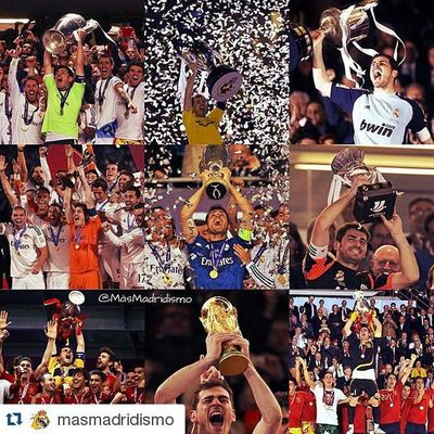Repost @masmadridismo ・・・ Siempre serás leyenda madridista y española, gracias por todos los grandes momentos. Graciascapi IkerCasillas Iker_casillas GraciasCasillas SuerteIker