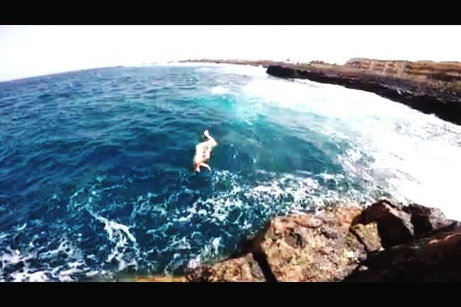 Capturing Freedom Hanging Out Jumping Of The Rocks Rock Jumping Waves Nature Sea