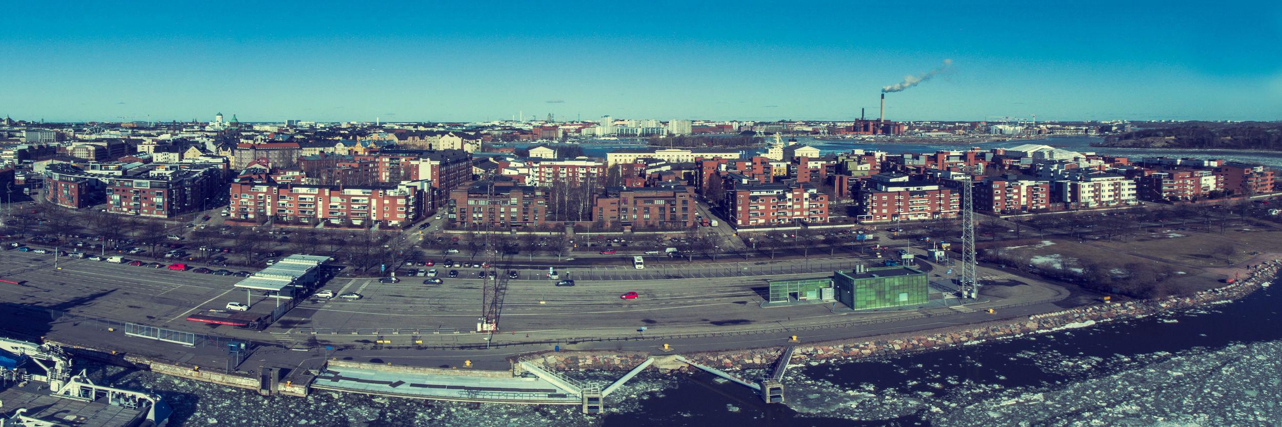 Panorama photo of Katajanokka district in Finland. Aerial Photography Aerial View Aero Cityscape District Dronephotography Finland Harbour Helsinki Ice Ilmakuva Katajanokka Kaupunki Panorama Suomi Suomi100 Terminal Winter First Eyeem Photo
