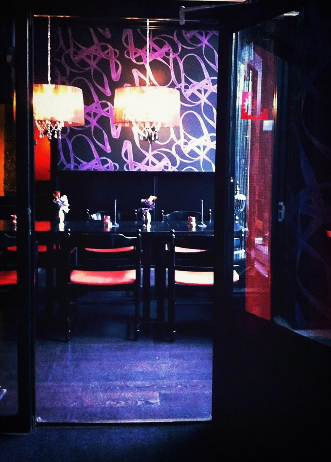 Cafe Red Interior Design Black