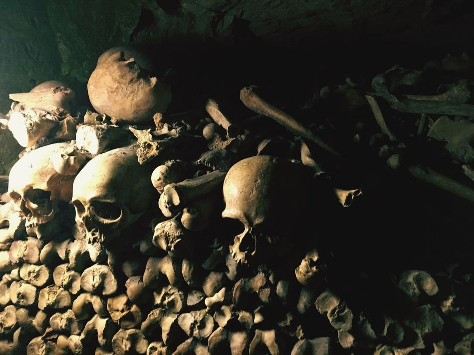 Paris, France  Catacombs Under Light No People Die