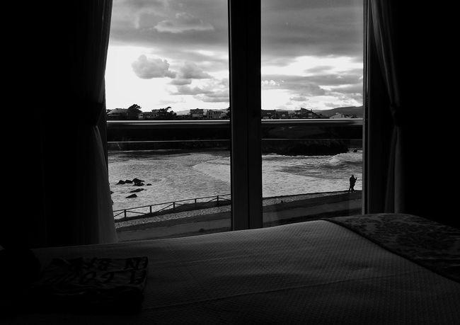 The View From My Window Monochrome Shades Of Grey Facing The Ocean Echándote De Menos / CdB