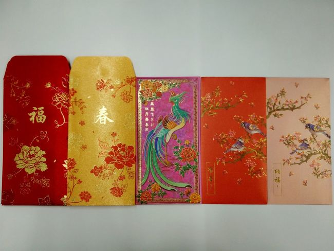 No People Multi Colored Angpow 2017 Chinese New Year Red Envelopes Red Packets Angpowpacket 2017 New Year Close-up Chinese New Year Chinese Culture Chinese Traditional Culture Chinese Characters Chinese New Year 2017