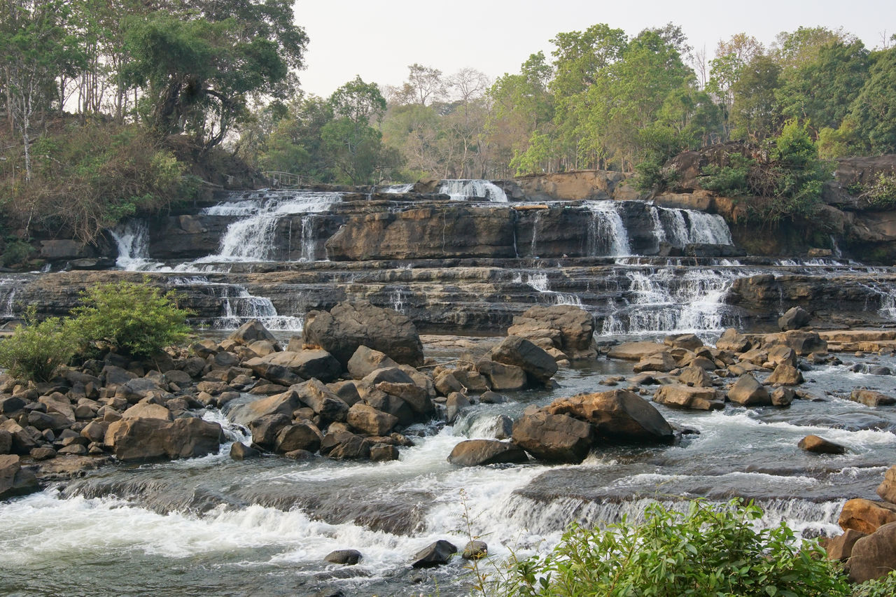 Tad Hang Waterfall, Bolaven Plateau, Laos, Asia ASIA Beauty In Nature Bolaven Plateau Day Falls Landscape Laos Nature No People Outdoors River Scenery Scenics Tad Hang Tad Hang Waterfall Tourism Tranquil Scene Travel Destinations Traveling Water Waterfall