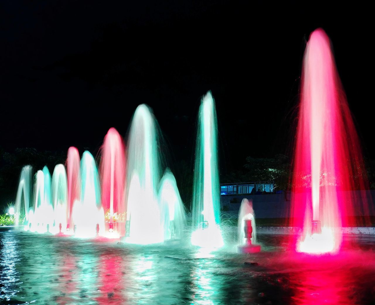 night, long exposure, illuminated, water, motion, speed, outdoors, no people, arts culture and entertainment, multi colored