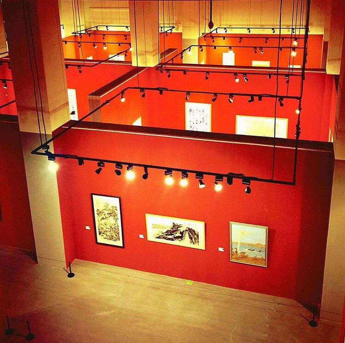 Red Art Museum Exhibitions Old Pic - New Edit Look Down Chongqing Art Museum Leisure Time