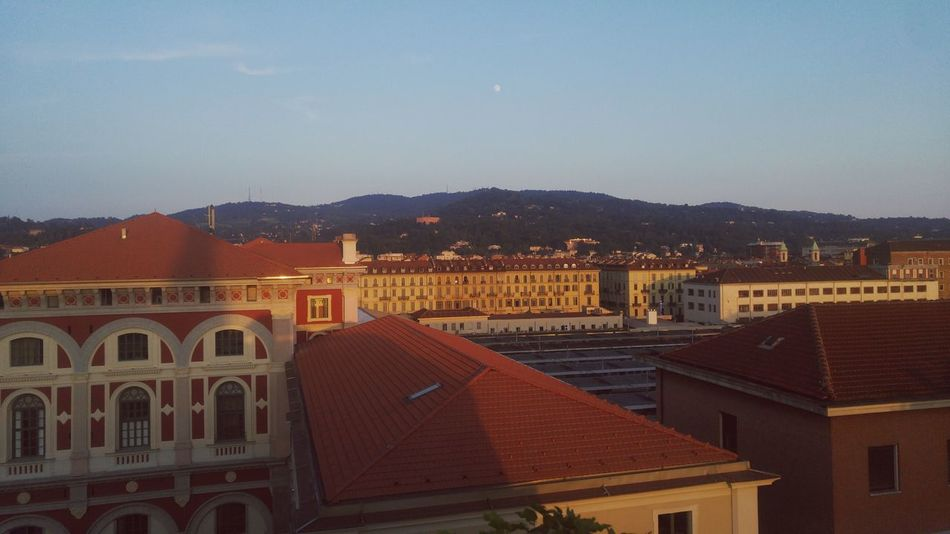 Architecture Cityscape Mountain Range Streiflicht Warm Light Sundown Flair Toskana Italy City Cityscape Building Exterior Travel Destinations Architecture Italianflair Moon Daylight Above The City View From The Top Roof Structure Roof Tops Rooftop Terrace