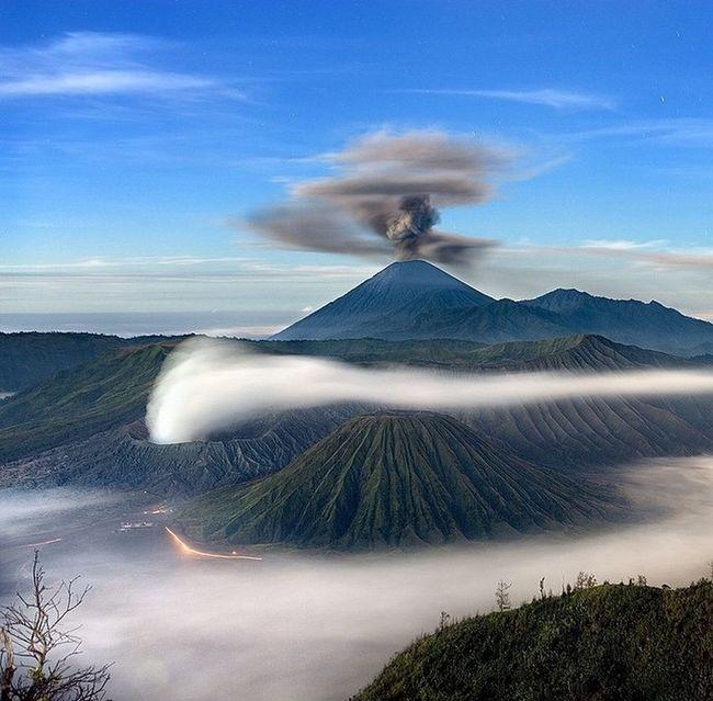 Photograph by John Stanmeyer. Mount Bromo Mount Semeru INDONESIA Eastjava Amazing Beauty Of Indonesia