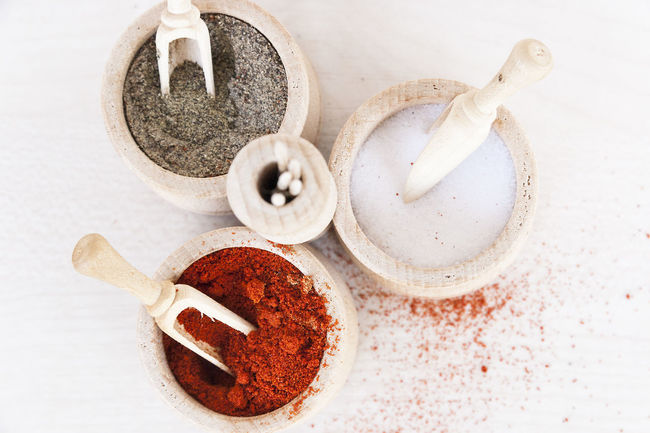 Spices 01 Close-up Day No People Orange Orange Color Paprika Pepper Pimenton Pimentón Rojo Salt Spices Spices Of The World Still Life White White Color