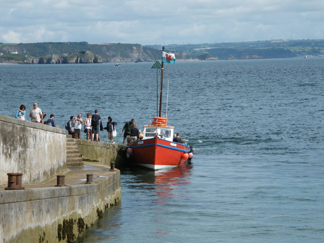 Adventure Boat Trip Caldey Island Cloud - Sky Day Disembarking Exploring Ferry Fishing Boat Harbour Holiday Nautical Vessel Outdoors Passengers Pembrokeshire Pembrokeshire Coast Red Boat Sky Water The Red Boat