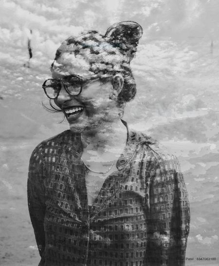 Magic Double Exposure Magical Cloud - Sky People Portrait Eyeglasses  Sky Outdoors Secret Spaces Vacations Photography Beautiful Woman Week On Eyeem Friendship Only Women Girls Beach Beauty The EyeEm Facebook Cover Challenge Around You Nearby Nikon Nikonphotography Nikon D90 India EyeEmNewHere