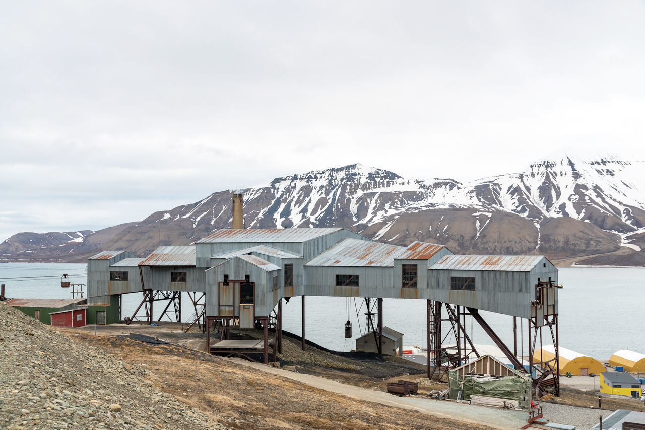 Abandoned mining constructions in Svalbard Elg Global Warming Ice Isolated Longyearbyen Moose Norway Raindeer Abandoned Arctic Day Glacier Global Seed Vault Mining No People North Outdoors Svalbard