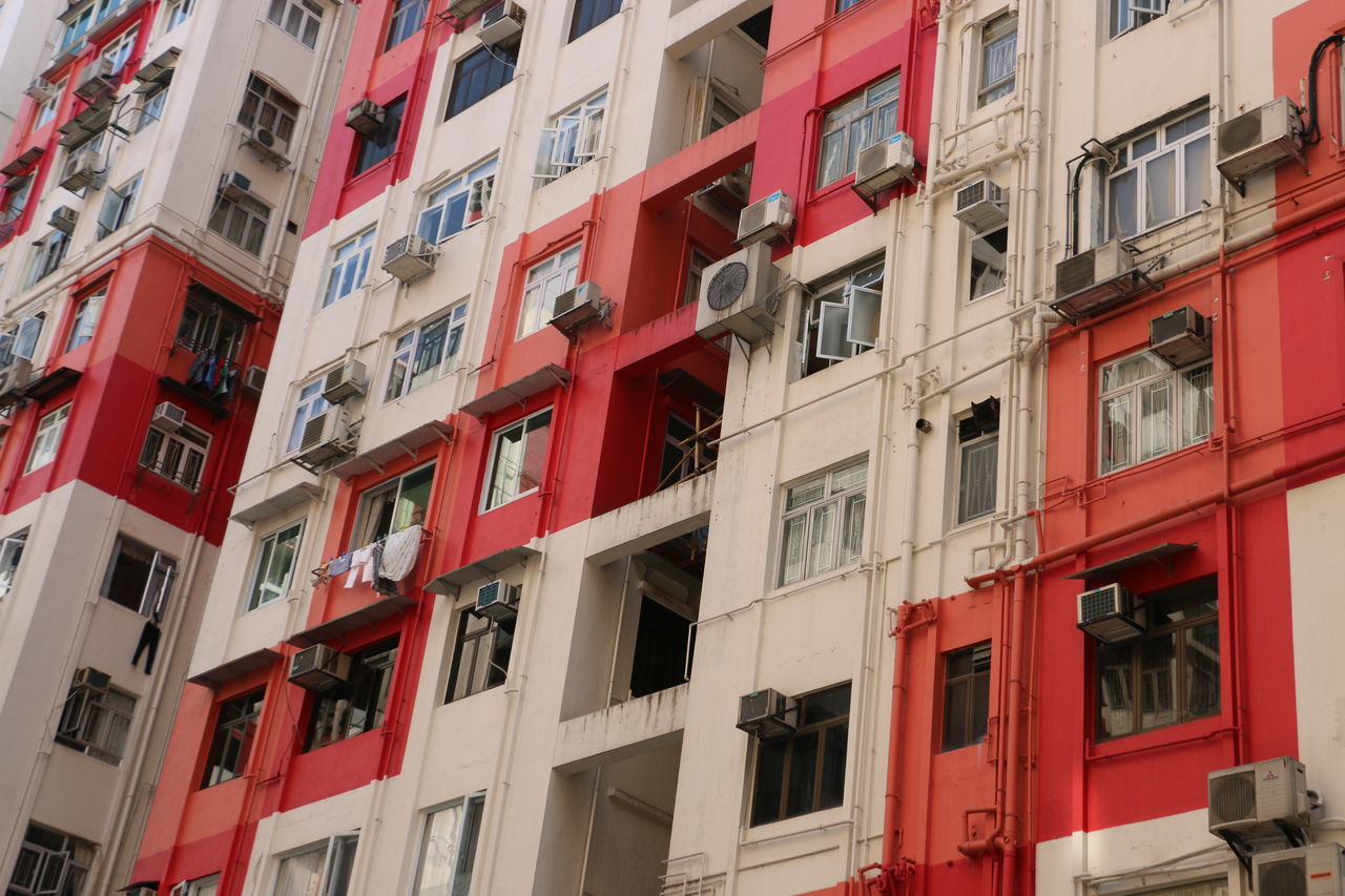 Red & White Appartment Appartment Block Architecture Building Exterior City Facade Building Facades HongKong House Housing Development Red Red & White Residential Building Residential Structure Space Travel Travel Photography White Window