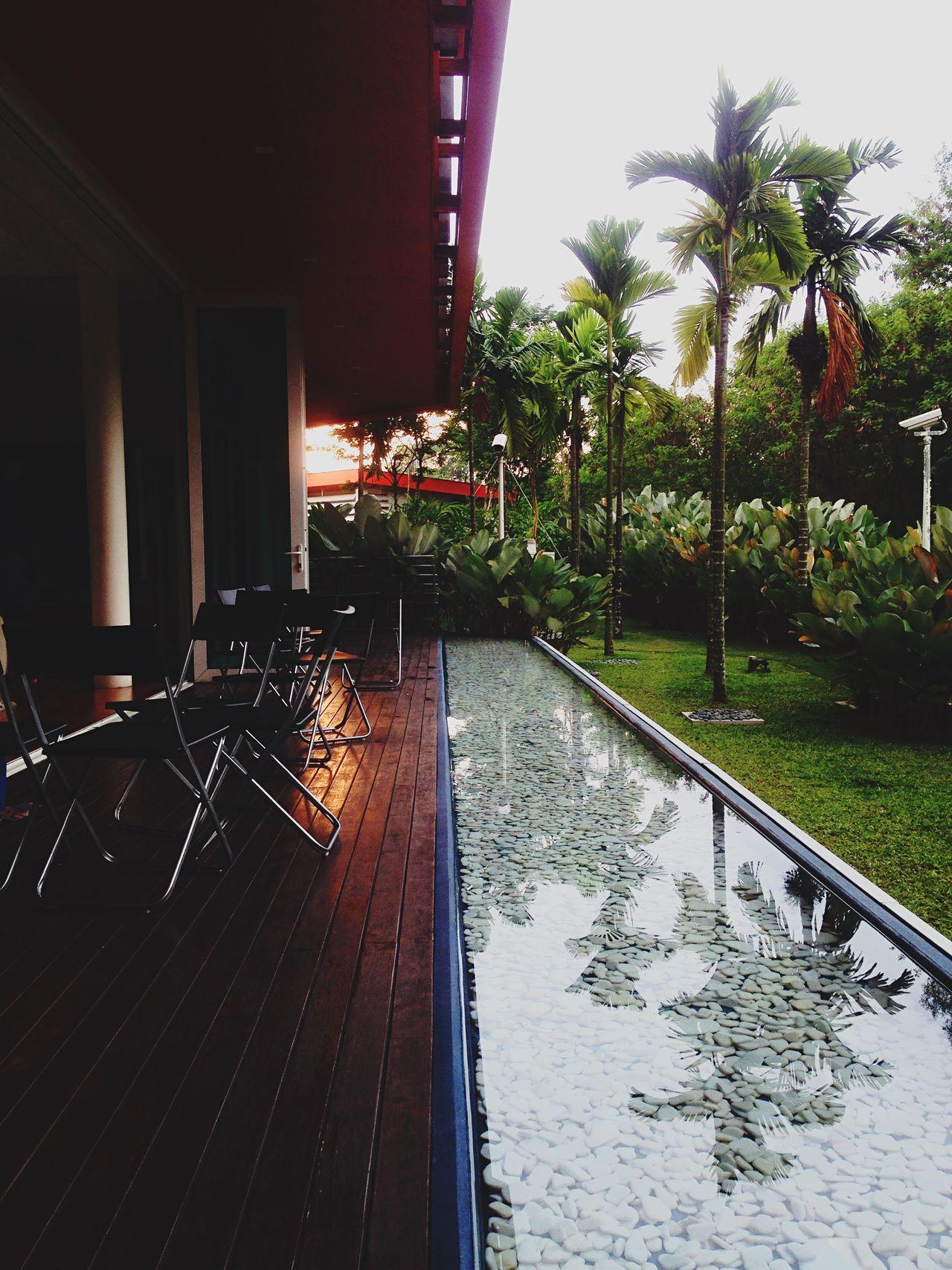 Idea House Denaialam Water Reflections Garden Architecture