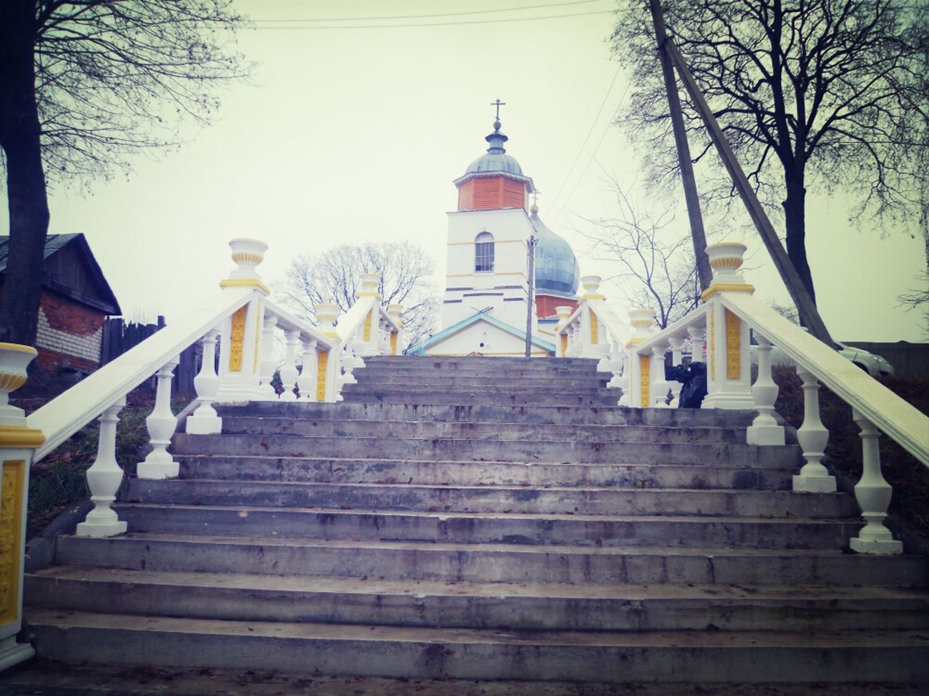 Храм в Брянской области Russia храм Вглубинке