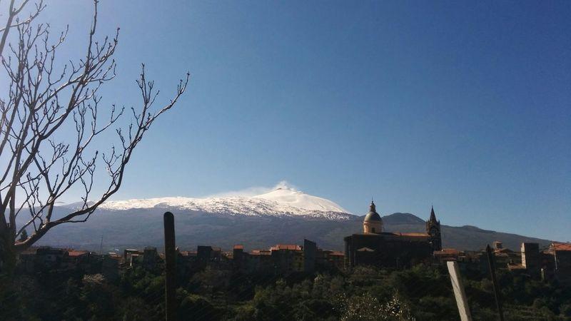 C'è un senso di sacro nelle montagne sicule Bare Tree Beauty In Nature Blue Chuches Clear Sky Etna Mountains Overview Travel Destinations
