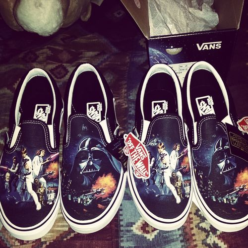 His and hers Star Wars Vans. Star Wars Vans New Sneakers May The Force Be With You