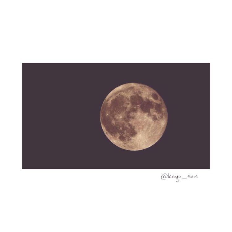 昨日は月が綺麗だった♡ 月 スーパームーン Super Moon Supermoon2015